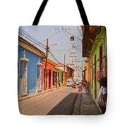 Traversing Santiago De Cuba, Cuba. Tote Bag