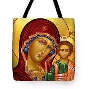 Virgin And Child Christian Art Tote Bag