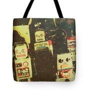60s Cartoon Character Robots Tote Bag