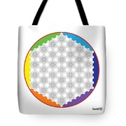 64 Tetra Flower Of Life Tote Bag