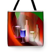 643  Still Life  With Bottles And  Cups  V  Tote Bag