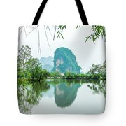 Karst Rural Scenery In Spring Tote Bag