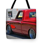 '67 Chevy C10 Awaits Green Light Tote Bag
