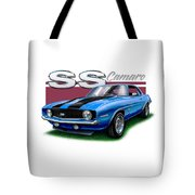 69 Camaro Ss In Blue Tote Bag