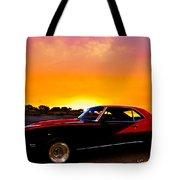69 Camaro Up At Rocky Ridge For Sunset Tote Bag