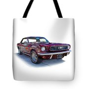 69 Ford Mustang Tote Bag by Mamie Thornbrue