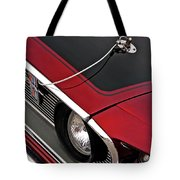 69 Mustang Hood Pin And Grille Tote Bag