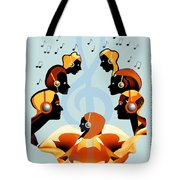 693 -  Listening   To  Music   Tote Bag