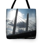 6th Street Bridge Backlit Tote Bag