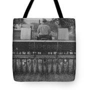 A Farmer Driving A Tractor Tote Bag