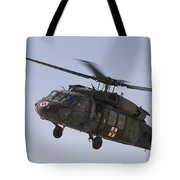 A Uh-60 Blackhawk Medivac Helicopter Tote Bag