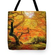7 Abstract Japanese Maple Tree Tote Bag