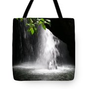 Australia - Peering Into Natural Arch Waterfall Tote Bag