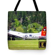 B-17 Bomber Taxiing 1 Tote Bag