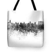 Bangkok Skyline In Watercolor Background Tote Bag