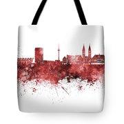 Bremen Skyline In Watercolor Background Tote Bag
