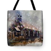 Church At Christmas Tote Bag
