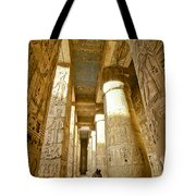 Colonnade In An Egyptian Temple Tote Bag