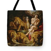 Daniel In The Lions' Den Tote Bag