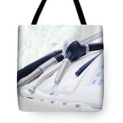Equipment And Dental Instruments In Dentist's Office Tote Bag