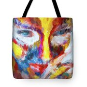 Face Paint Tote Bag