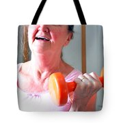 Female Workout. Tote Bag