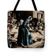 Florence Nightingale, English Nurse Tote Bag by Science Source