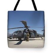 Hh-60g Pave Hawk With Pararescuemen Tote Bag