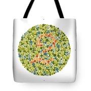 Ishihara Color Blindness Test Tote Bag