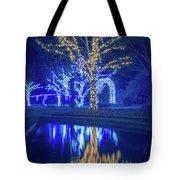 Lights, Christmas, Light, Christmas Tree, Green, Color, Red, Blu Tote Bag