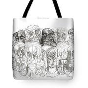 Naughty Portraits Tote Bag