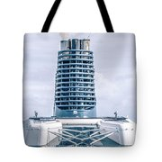 On Deck Of Huge Cruise Liner Ship From Seattle To Alaska Tote Bag