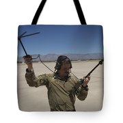 Pararescuemen Conducts A Communications Tote Bag