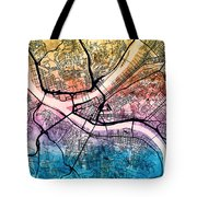Pittsburgh Pennsylvania Street Map Tote Bag