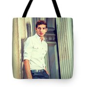 Portrait Of Young American Businessman. Tote Bag