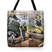 Reconstruction Cartoon Tote Bag