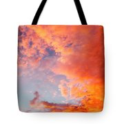 Red Cloudscape At Sunset. Tote Bag