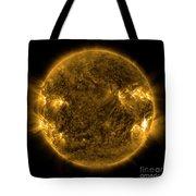 Solar Activity On The Sun Tote Bag