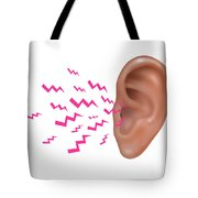 Sound Entering Human Outer Ear Tote Bag