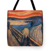 The Scream Ver 1893 Edvard Munch Tote Bag
