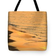 Waiting For The Wave In Sepia Tote Bag
