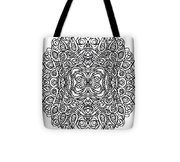 Concentric Butterfly Tote Bag