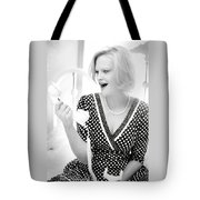 Vintage Val Black And White Tote Bag