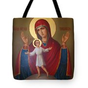 Virgin And Child Christian Art Tote Bag