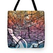 Washington Dc Street Map Tote Bag