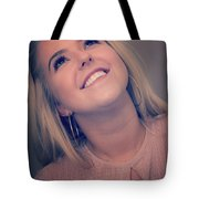 Young Woman Getting Ready To Night Out Tote Bag
