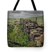 Rock Wall And Field In Ireland 7010199  Tote Bag