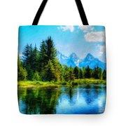 Landscape Drawing Nature Tote Bag