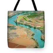 Rice Fields Scenery In Autumn Tote Bag by Carl Ning