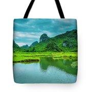 Karst Rural Scenery In Spring Tote Bag